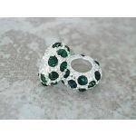 Buckets of Beads Rhinestones Charm Bead, Green