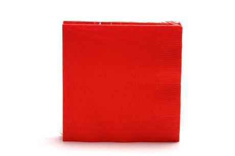 Beverage Napkins 9-7/8X7-7/8 50/Pkg-Classic Red