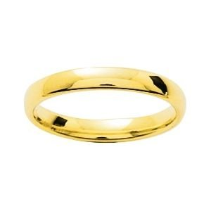 So Chic Jewels - 9k Yellow Gold 3 mm Classic Wedding Band Ring