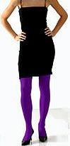 Opaque Purple Tights - Average Size