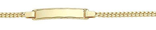 Damen Schmuck Gold Identitätsarmband Flachpanzer / Panzerkette aus 333 Gelb Gold ( 16 cm ) ( 2,4 mm ) online kaufen