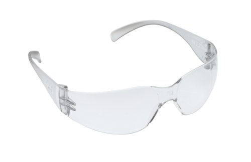 3M Tekk 11329 Virtua Anti-Fog Safety Glasses, Clear Frame, Clear Lens
