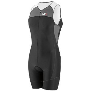 Louis Garneau Men's Comp Triathlon Suit, Black/Grey, Large