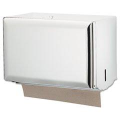 - Key-Lock Singlefold Towel Dispenser, Steel, 10 3/4w x 6d x 7 1/2h, White