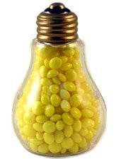 Creative Hobbies® Clear Plastic Fillable Light Bulbs, Great for Candy, Weddings or Crafts, 4 Inch Tall, Case Pack of 24