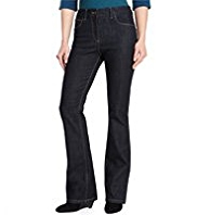 M&S Collection Slim Fit Denim Bootleg Jeans