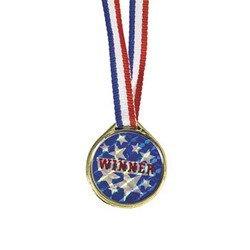 """Gold """"Winner"""" Laser Medals (1 dozen) - Bulk"""