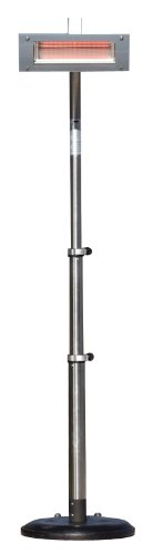 Fire Sense Telescoping Infrared Indoor/Outdoor Heater, Stainless Steel (Fire Sense Infrared Heater compare prices)