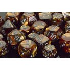 Chessex Dice: Polyhedral 7-Die Lustrous Dice Set - Gold w/silver