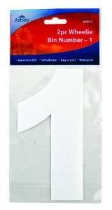2 Pack Wheelie Bin Numbers - 1