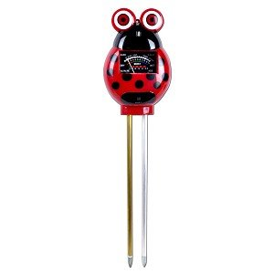 3 in 1 Moisture pH & Light Garden Soil Probe Meter Perfect for Monitoring Plant Soil Conditions! Red Ladybug