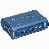 TRENDnet 2-Port USB KVM Switch and Cable Kit with Audio, TK-209K
