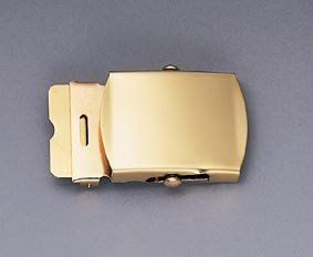 4406 SOLID BRASS WEB BELT BUCKLE