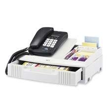Telephone Organizer Stand, 1 Drawer, 14 3/4 X 10 1/2 X 4 1/4, Gray front-847285