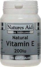 Natures Aid Vitamin E 200iu 90 Capsules