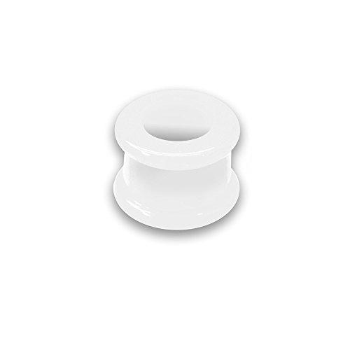 26 marzo tunnel mm carne canna della galleria orecchio silicone neon doppio svasata silicone, formato: 8 mm Colore: bianco