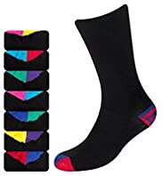 7 Pairs of Freshfeet&#8482; Cotton Rich Striped Socks with Silver Technology