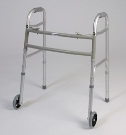 Bariatric walker with wheels - This medical Bariatric walker has a dual button to fold. Weight capacity 450 pounds. This functional lightweight aluminum walker has Limited lifetime warranty on frame. (Bariatric Walker Tray compare prices)