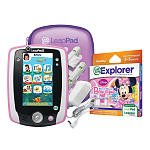 LeapFrog LeapPad2 Power Play and Protect with Disney Minnie's Bow-tique Super Surprise Party Learning Game and bonus case