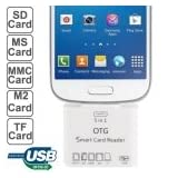 5 in 1 Micro USB Card Reader Connection Kit per Samsung Galaxy S IV / S III / Note / Other Smart Phone, Support...