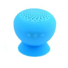 Lightahead® Mini Mushroom Bluetooth Speaker Wireless Hands Free Waterproof Silicone Suction For Phones, Ipod Laptop & Other Buletooth Devices Kts07A (Blue)