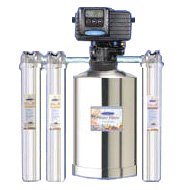 Crystal Quest Eagle Mid Size Whole House Water Filter Automatic Back Washing Stainless Steel