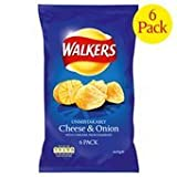 Walkers Baked Cheese & Onion Crisps 6 X 25G