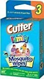 Cutter All Family 6x7 in DEET Mosquito Wipes Convenience Pack, 3pcs/pack x 4 pack