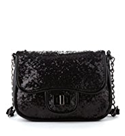 Glitter Twistlock Cross-Body Bag
