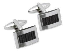 Unique Men's Stainless Steel Cufflinks