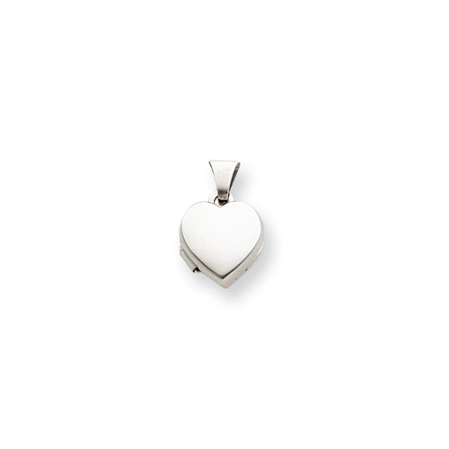 Sterling Silver Plain 10mm Heart Locket