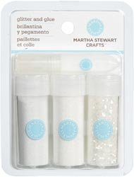 Martha Stewart Fine Glitter 3/Pkg Artic; 3 Items/Order