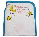 Blue Care Bears Baby Heart Kite Hugs Burp Cloth - 1