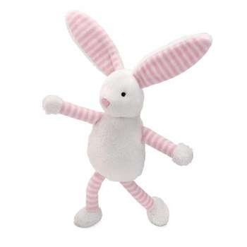 North American Bear Company Baby Long Legs Squeaker, Pink Bunny front-594372