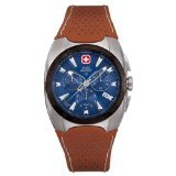 Swiss Military Hanowa Men's 06-4091-04-003 Challenger Blue Dial Leather Strap Watch