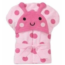 Child of Mine Carter's Baby Hooded Bath Towel - LadyBug
