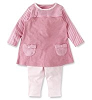 2 Piece Pure Cotton Bow Tunic & Leggings Outfit