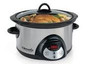 Rival SCRC501-SS 5-Quart Countdown Slow Cooking Crock Pot Cooker, Stainless Steel