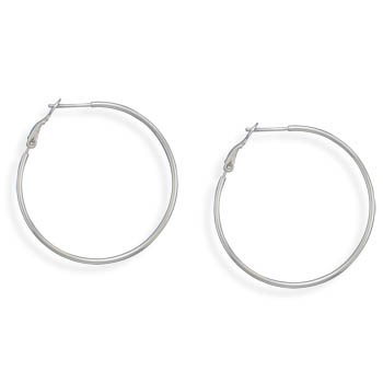 1mmx40mm Clip Post Hoop Earrings