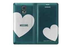 Samsung Flip Cover Moschino - Galaxy S5, verde con argento Herz - adatto per G900F