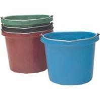 3 PACK FLAT BACK BUCKET FB-120, Color: PURPLE; Size: 20 QUART (Catalog Category: Barn & Stable Supplies:BUCKETS, TUBS, FEEDERS & TANKS)