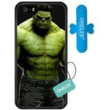 Onelee iPhone SE, [Scratchproof] Marvel Series Case for iPhone 5S SE, Marvel Comic Hero Hulk iPhone 5S Case Black Soft Rubber [NeverFade][Free One Touch Silicone Stand] (Marvel Tire Cover compare prices)