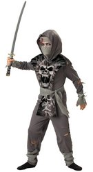 [Boy's Costume: Zombie Ninja Size (6-8)] (Ninja Zombie Costumes Child)