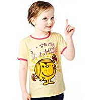Pure Cotton Little Miss Sunshine T-Shirt with Stay New&#8482;