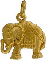 Asian Elephant Pendant in Gold Vermeil, #7647