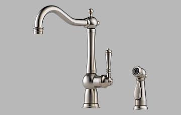 Brizo 61136LF-SS Tresa Single Handle Kitchen Faucet with Spray – Stainless