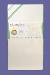 Naturepedic MC22 No Compromise Organic Cotton Classic 150 Seamless Crib Mattress