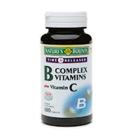 Nature'S Bounty B-Complex With Folic Acid Plus Vitamin C - 100 Tablets + 25 Bonus Tablets (125 Tablets Total)