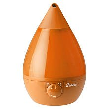Crane - 0.9-Gal. Ultrasonic Drop Shape Humidifier - Orange