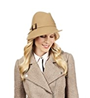 M&S Collection Pure Wool Buckle Trilby Hat